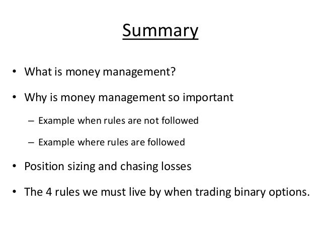 Option trade management