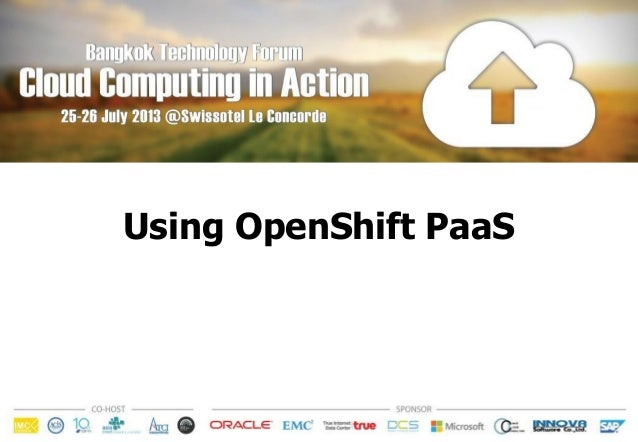 Using OpenShift PaaS