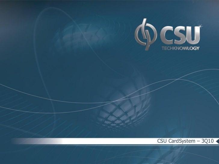 CSU CardSystem – 3Q10