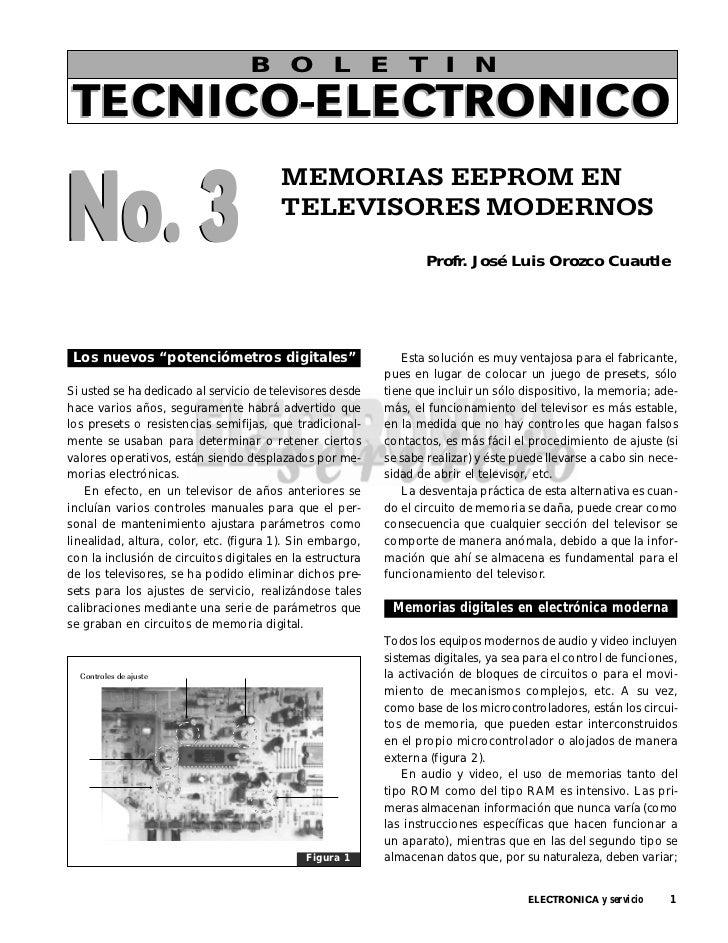 B O L E T I NTECNICO-ELECTRONICONo. 3                                        MEMORIAS EEPROM EN                           ...