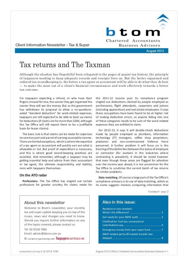 Client Information Newsletter - Tax & Super                                                                               ...