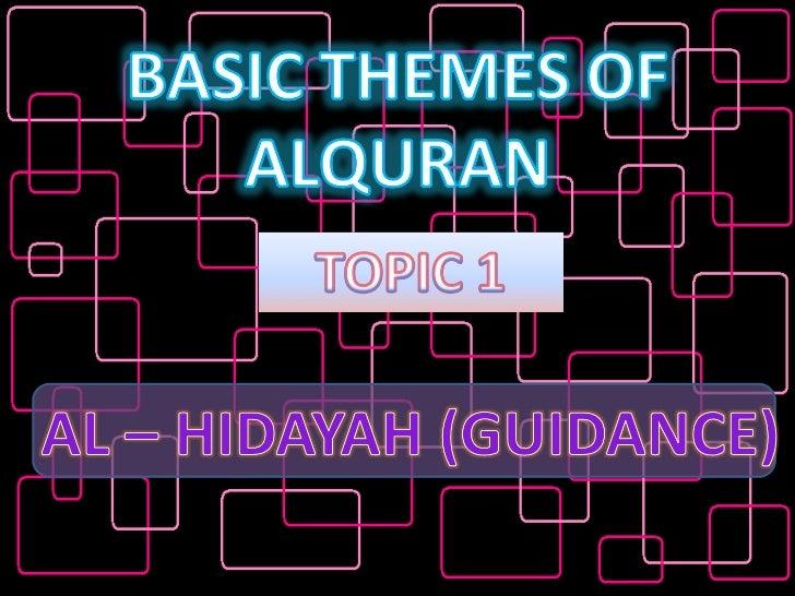 Basic Themes of Al-Quran