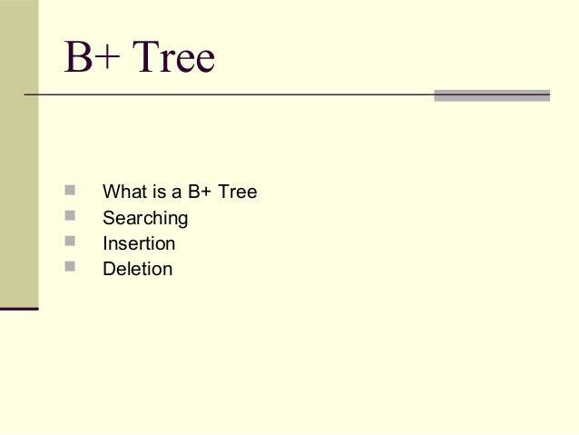 B+tree