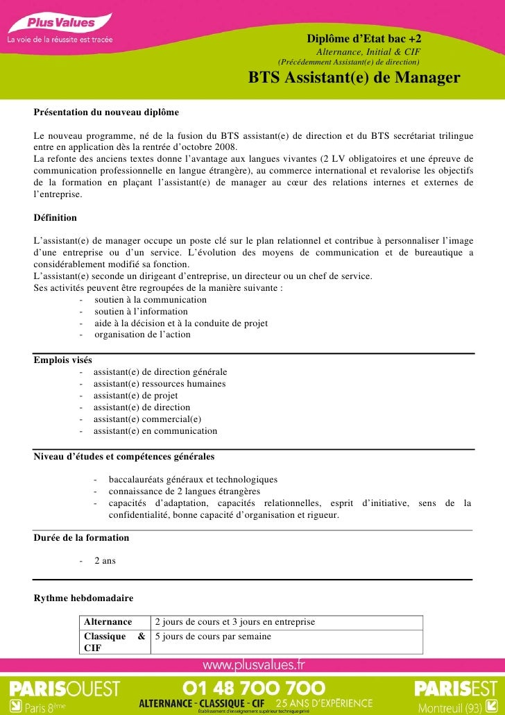 exemple cv d assistant manager
