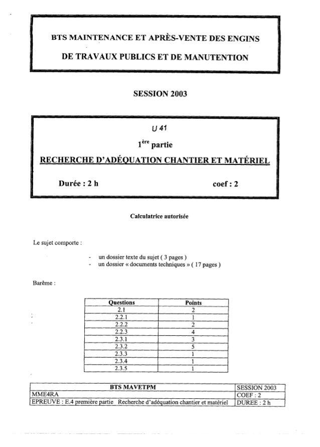 Btstravp recherche d-adequation-chantier-et-materiel-2003