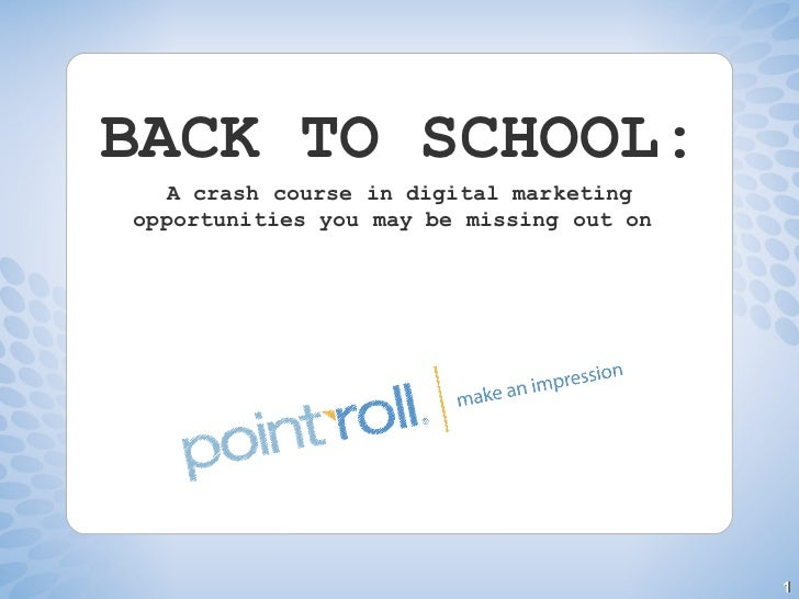 BACK TO SCHOOL: A crash course in digital marketing opportunities you may be missing out on