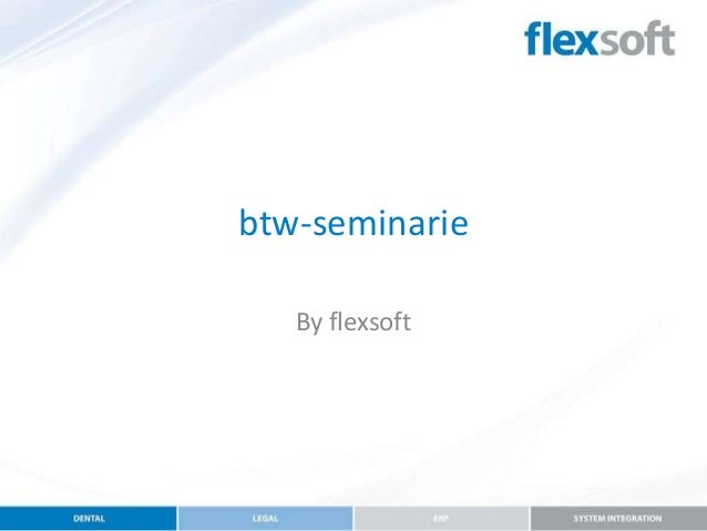 btw-seminarie By flexsoft