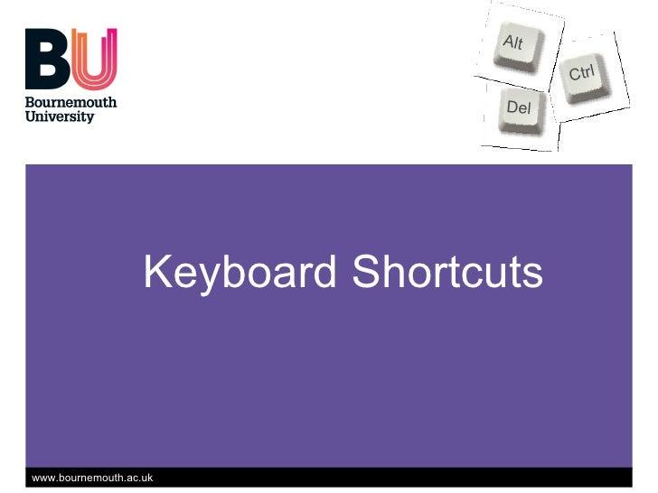 Keyboard Shortcuts Del Ctrl Alt www.dontwasteyourtime.co.uk