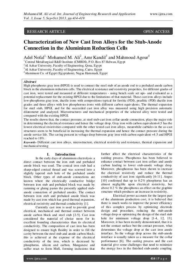 Mohamed M. Ali et al. Int. Journal of Engineering Research and Application www.ijera.com Vol. 3, Issue 5, Sep-Oct 2013, pp...