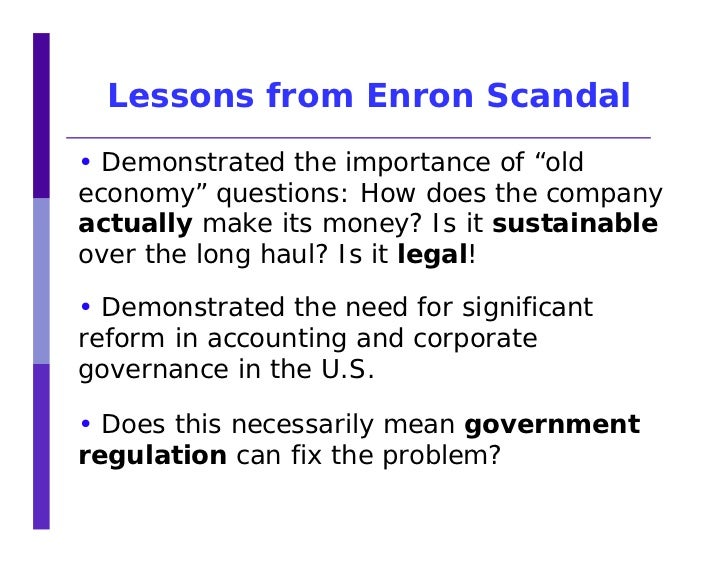 Essays on the enron scandal