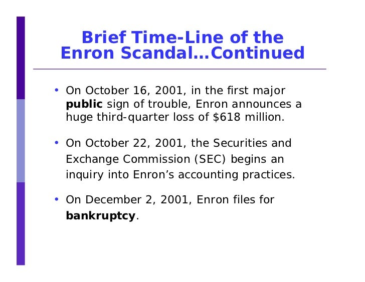 enron accounting scandal essay Following recent accounting and ethical scandals in firms such as enron, worldcom and parmalat, corporate governance is being regarded as an important issue in the business world due to the fact that rules and regulations have become stricter with regard to societal expectations.