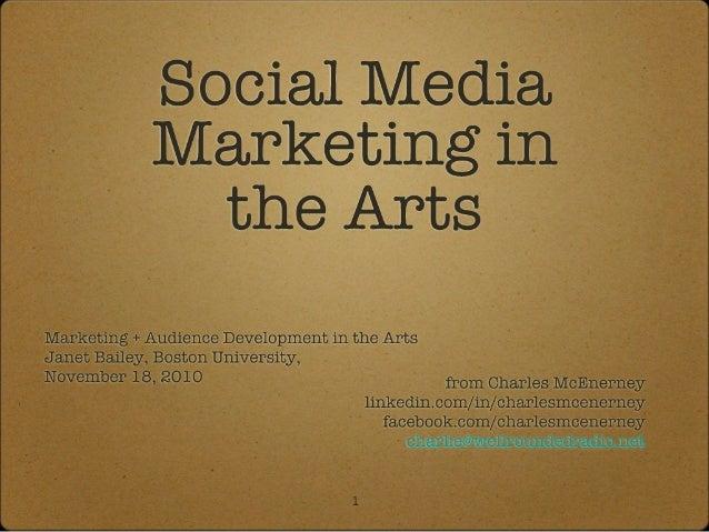 Social Media Marketing in the Arts