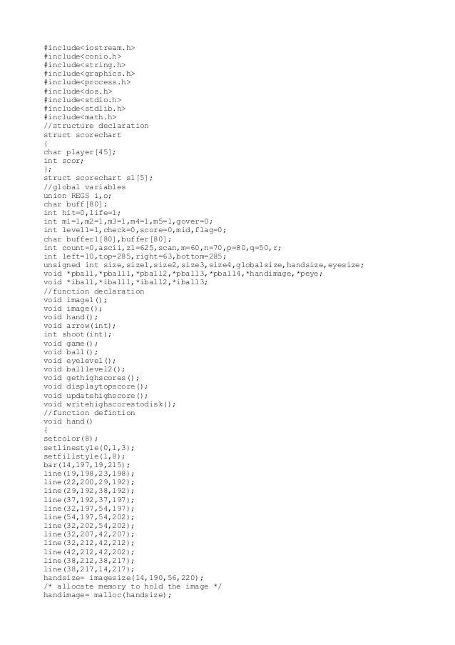 #include<iostream.h> #include<conio.h> #include<string.h> #include<graphics.h> #include<process.h> #include<dos.h> #includ...