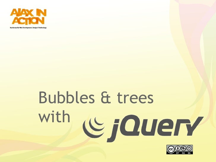 Bubbles & Trees with jQuery