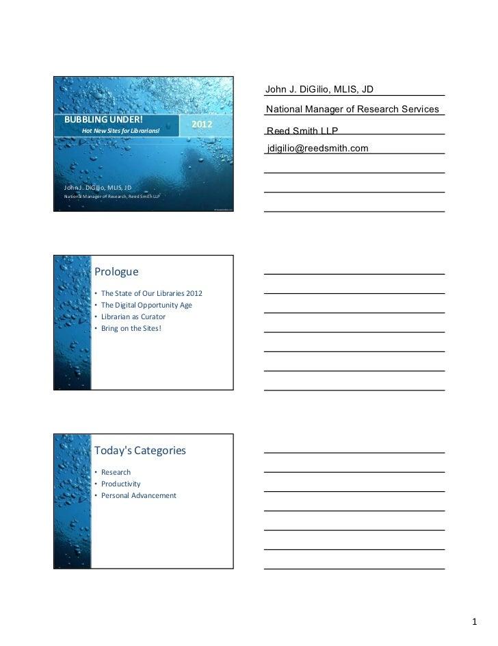 BubblingUnder - Atlanta - 2012 - Handouts
