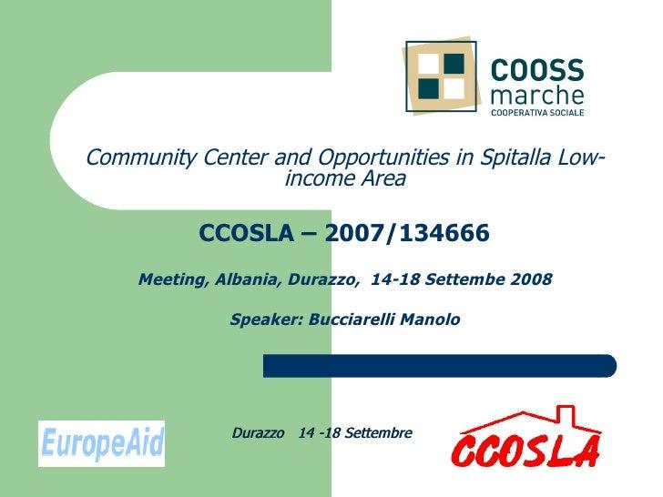 CCOSLA Project, Training Module