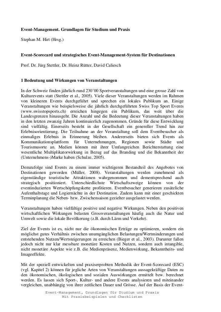 Event-Management. Grundlagen für Studium und PraxisStephan M. Hirt (Hrsg.)Event-Scorecard und strategisches Event-Manageme...