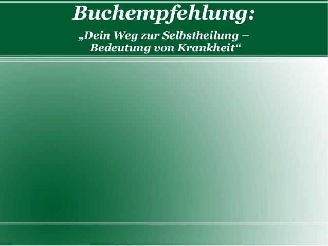 """Buchempfehlung: """"Dein Weg zur Selbstheilung – Bedeutung von Krankheit"""""""