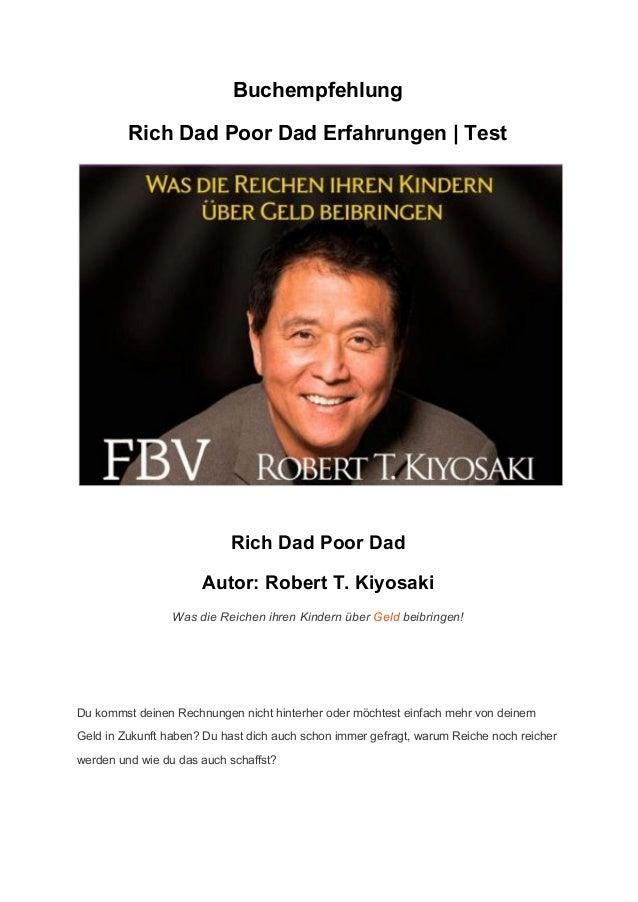 buchempfehlung rich dad poor dad erfahrungen rich poor dad test. Black Bedroom Furniture Sets. Home Design Ideas