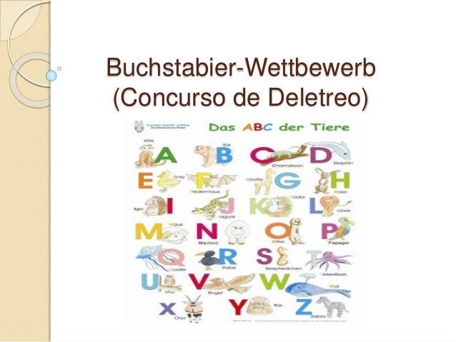 Buchstabier-Wettbewerb (Concurso de Deletreo)
