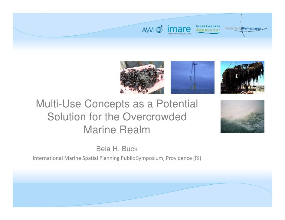 Multi-Use Concepts as a Potential  Solution for the Overcrowded           Marine Realm                          Bela H. Bu...