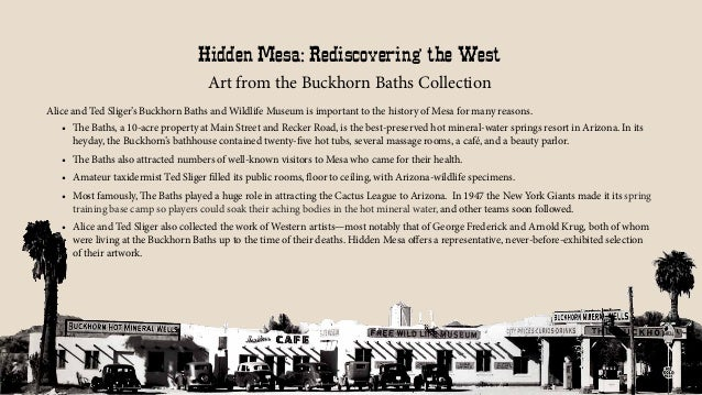 Hidden Mesa: Rediscovering the West Art from the Buckhorn Baths Collection Alice and Ted Sliger's Buckhorn Baths and Wildl...