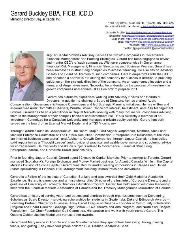Gerard Buckley, Managing Director, Jaguar Capital