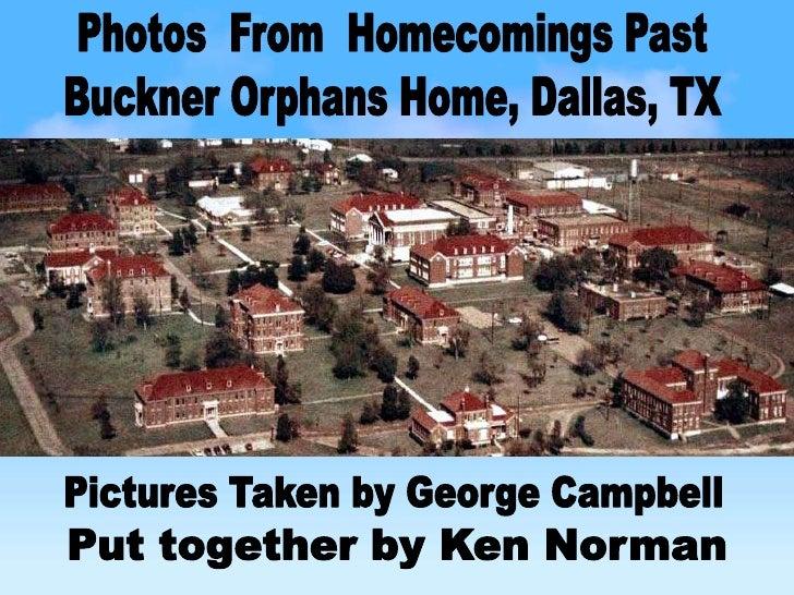 Buckner orphans home homecomings for Buckner home
