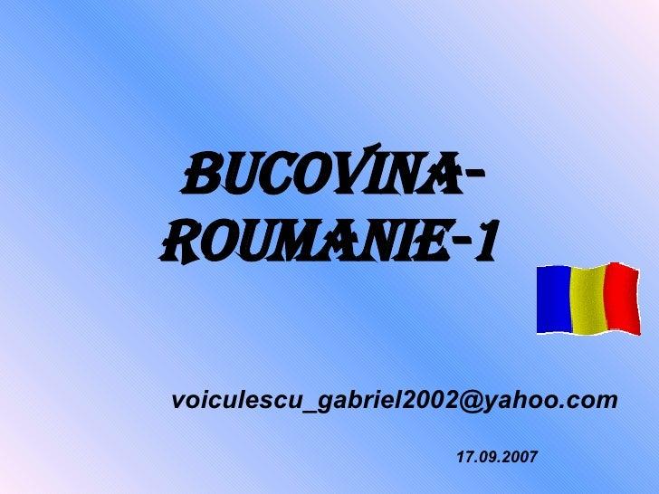 Bucovina Roumanie 1