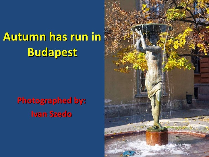 Autumn has run in Budapest Photographed by: Ivan Szedo