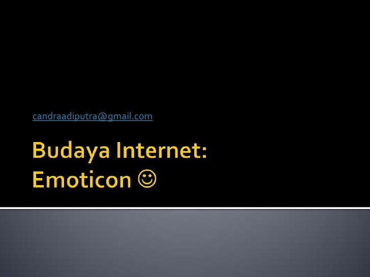 Budaya internet emoticon