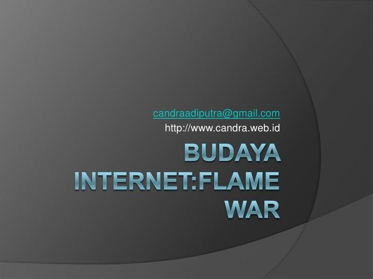 Budaya internet flamewar