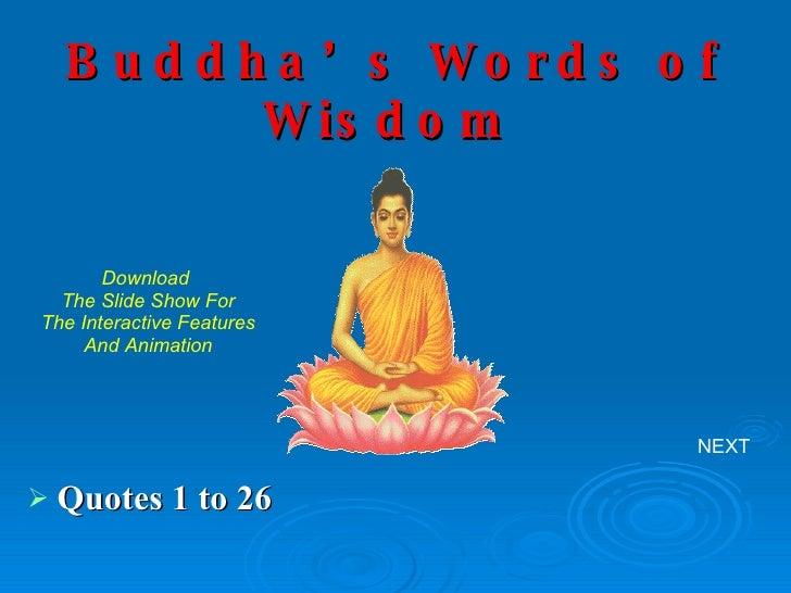 Buddha\'s Words Of Wisdom