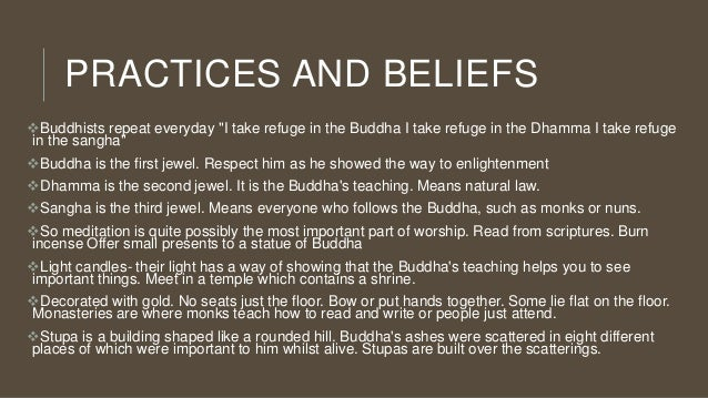Buddhist teachings and practices