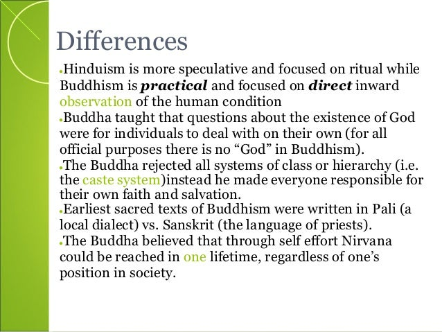 Compare contrast buddhism hinduism essay