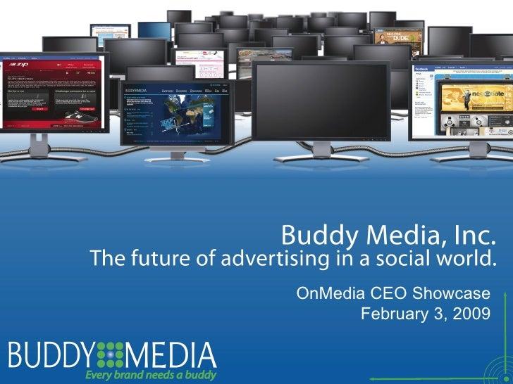 Buddy Media OnMedia CEO Presentation Deck