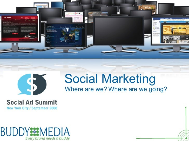 Insert text for Title Here Social Marketing Where are we? Where are we going?