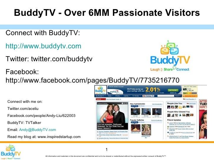 BuddyTV - Over 6MM Passionate Visitors  Connect with BuddyTV: http://www.buddytv.com Twitter: twitter.com/buddytv Facebook...
