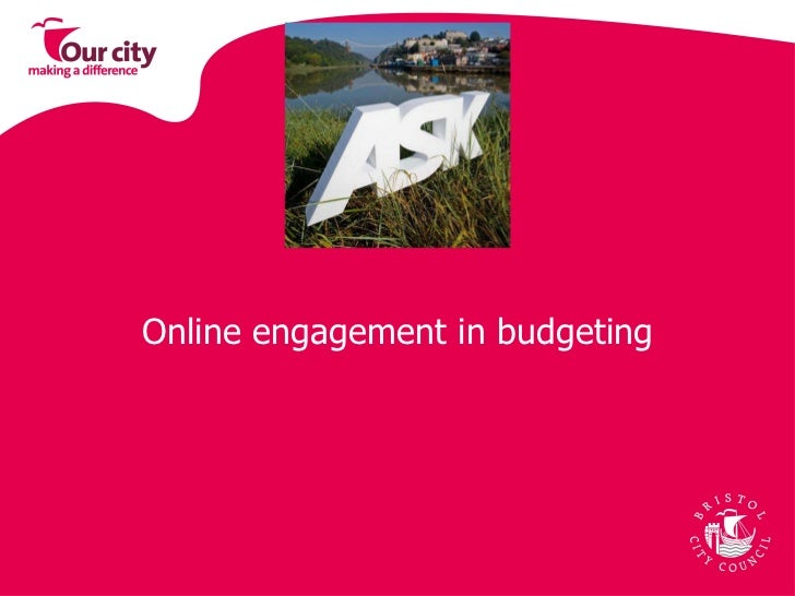 Online engagement in budgeting
