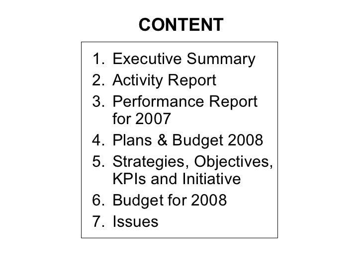 executive summary for presentation