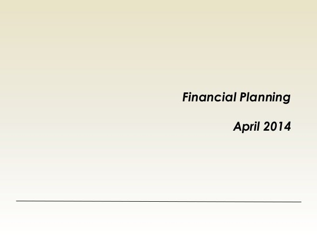 Financial Planning April 2014