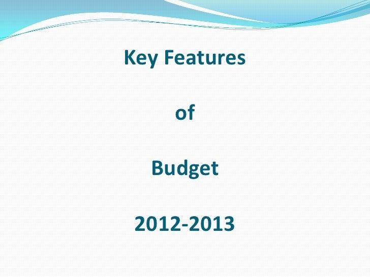 Budget 12 13