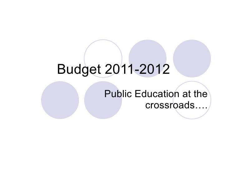 Budget 2 9-11