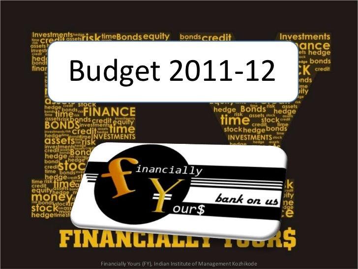 Budget 2011 12