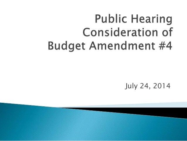 Budget Amendment No. 4