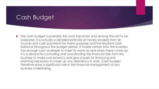 traditional budgeting system essay
