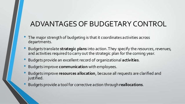 budget and budgetary control for improved