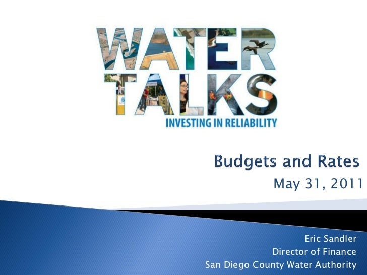 Water Talks: Budget and Rates