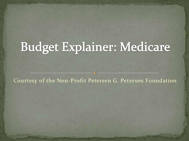 Budget explainer medicare