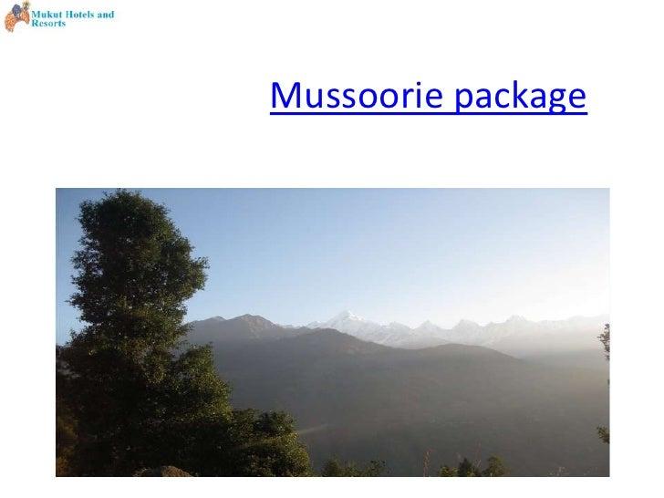 Mussoorie package<br />